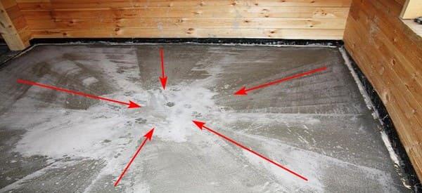 pol v bane betonnyj uklon